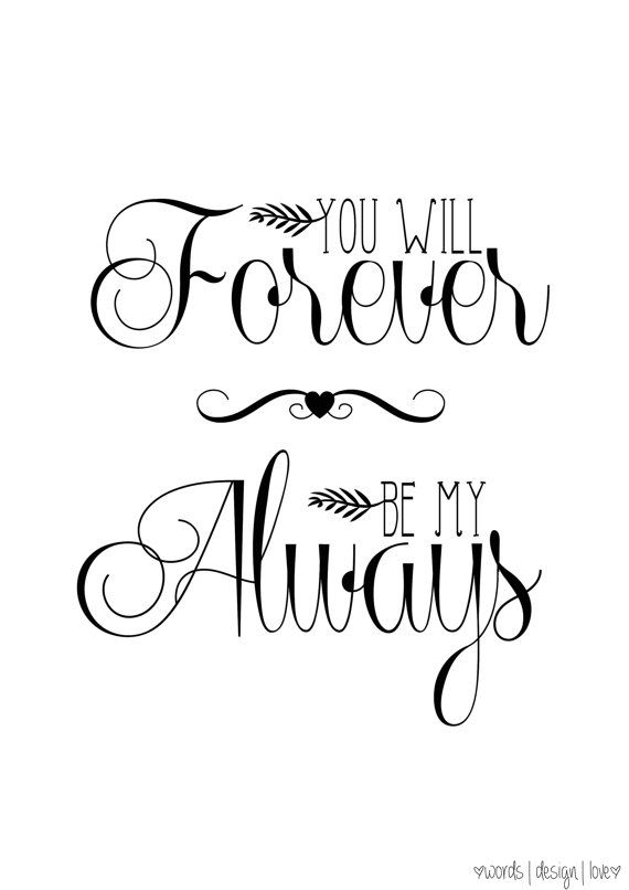 Love Soulmate Quotes You Will Forever Be My Always Vintage