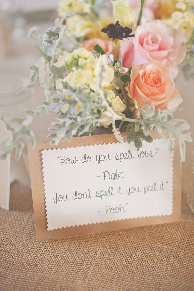 Quotes About Wedding : Winnie the Pooh wedding centerpiece, natural ...
