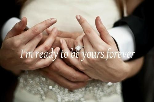 Description Yours Forever Love Quotes Wedding Hands Bride