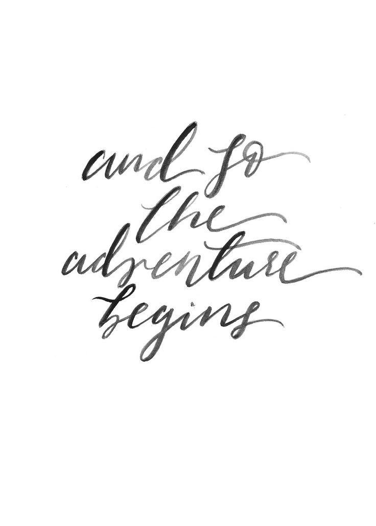 Wedding Quotes Adventure Print Inspirational Quote Black White