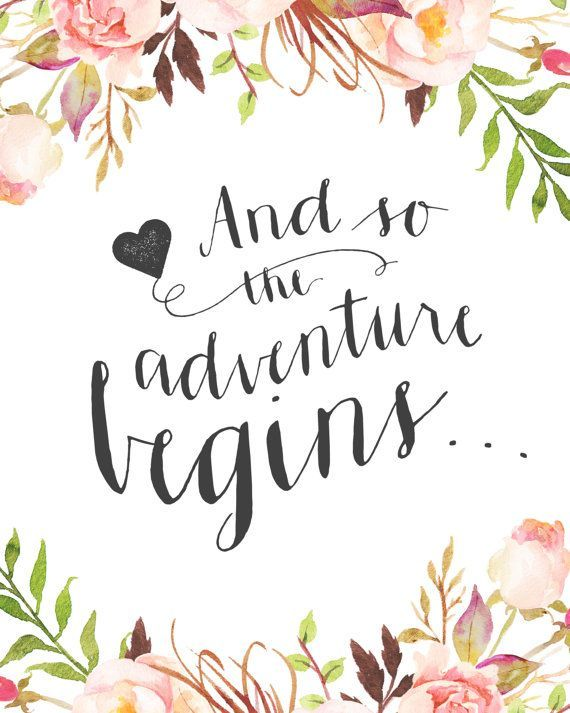 wedding quotes printable wedding sign and so the adventure by