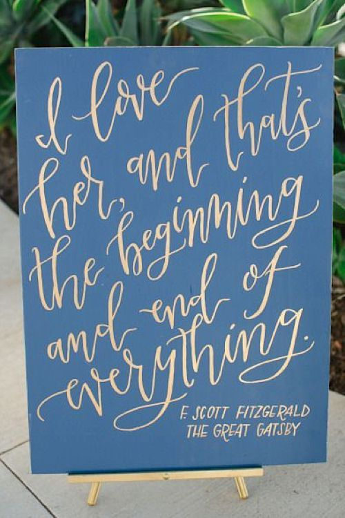 Wedding decorations quotes wedding dress decore ideas the great gatsby quote literary wedding ideas wedding decorations junglespirit Choice Image