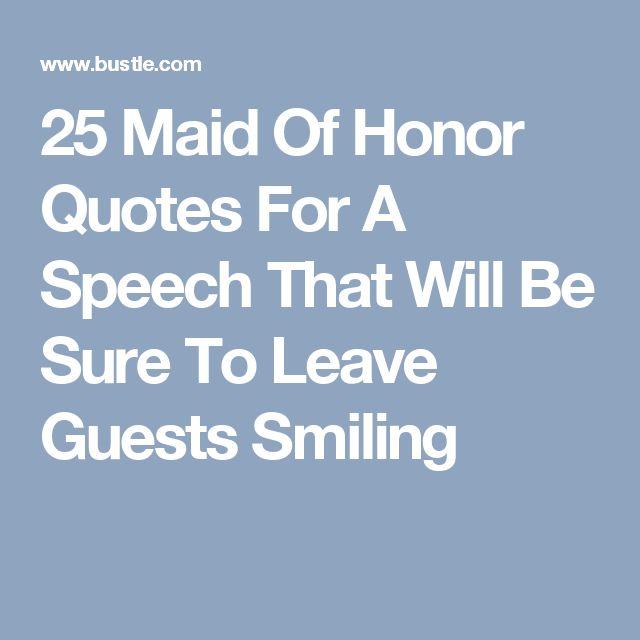 speech about honor