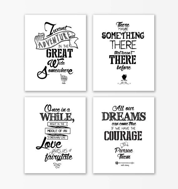 Quotes About Wedding Disney Beauty And The Beast Nursery Print