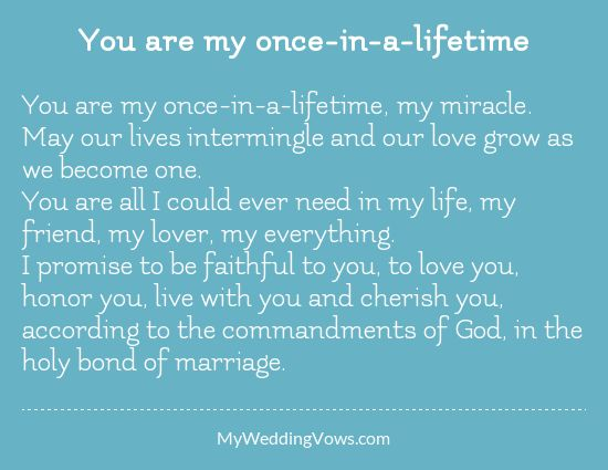 Quotes About Wedding You Are My Once In A Lifetime My Miracle
