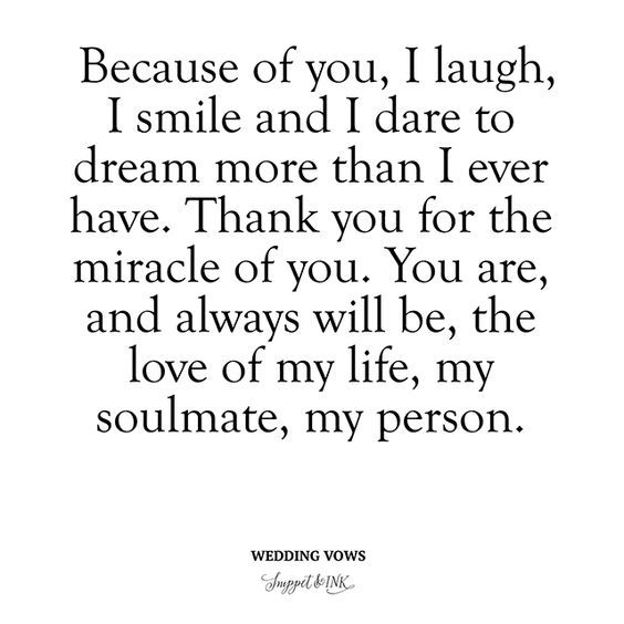 Quotes About Wedding Deep And Meaningful Wedding Vows Because
