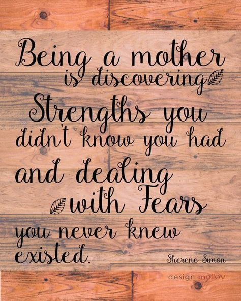 Happy Mothers Day Quotes Being A Mother Quote Print Sherene Simon