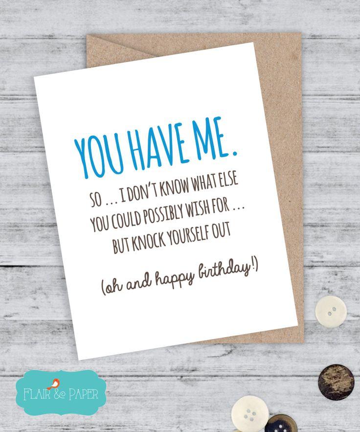 Happy Birthday Quotes Birthday Card Boyfriend Card Funny Birthday