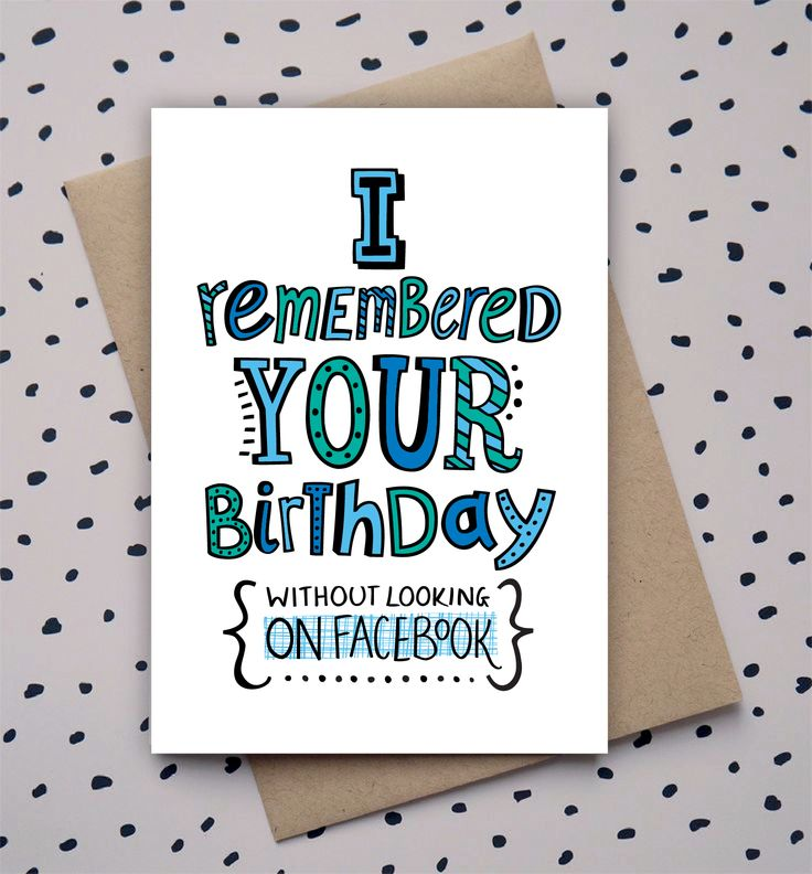 Happy Birthday Quotes Hand Drawn Type Doodle Birthday Card