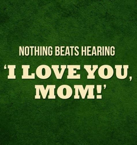 Happy Mothers Day Quotes From Son Daughter I Love You Mom Card