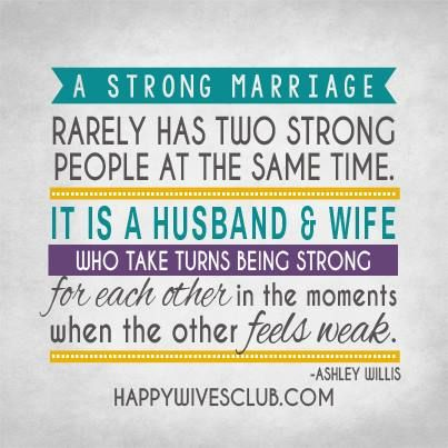 Love Quotes A Strong Marriage Rarely Has Two Strong People At The