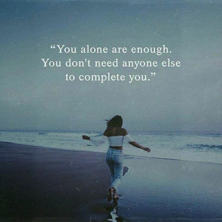 Positive Quotes : You alone are enough..   Quotes Boxes | You