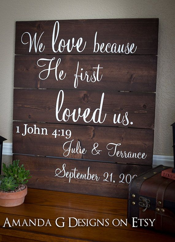 Quotes about wedding we love because he first loved us 1 john 4 quotation image junglespirit Gallery
