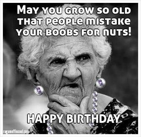 Best Birthday Quotes : Funniest Happy Birthday Meme Old Lady ... #birthdayCoffee