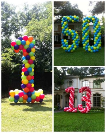 Best Birthday Quotes Giant Balloon Numbers For The Yard