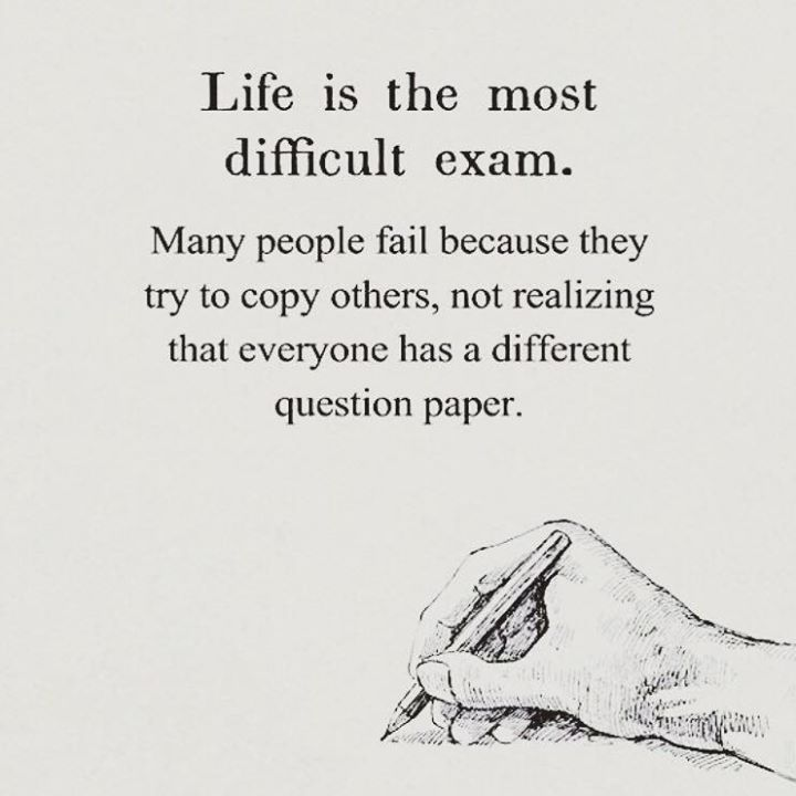 Positive Quotes Life Is The Most Difficult Exam Quotes Boxes