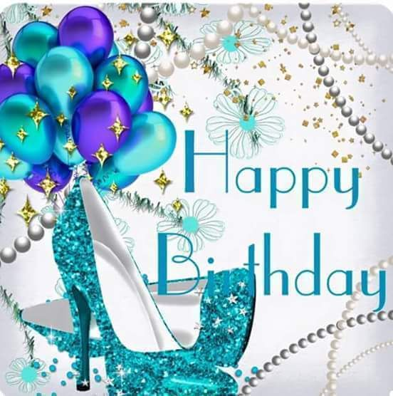 As The Quote Says Description Happy Birthday Sparkle Shoes Balloons