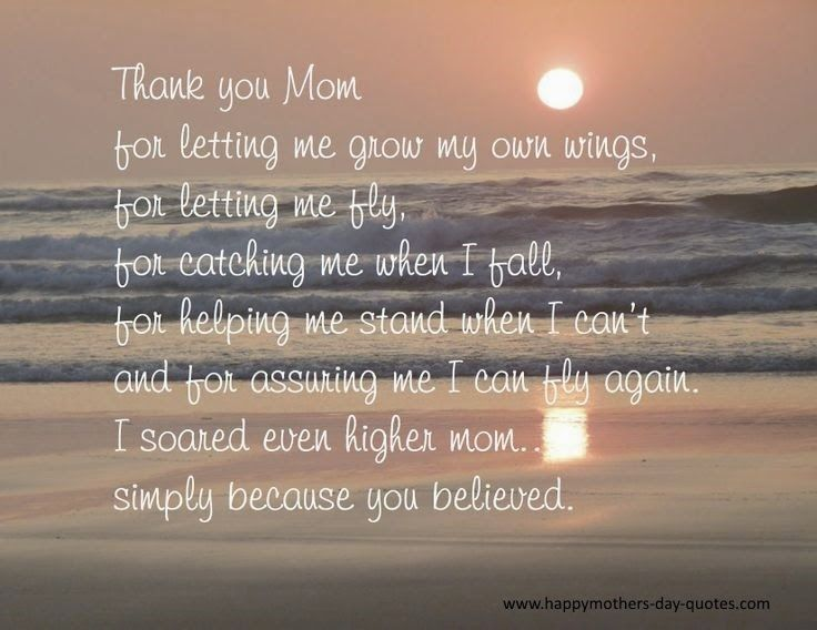 Happy Mothers Day Quotes Thank You Mom Quotes From Daughter