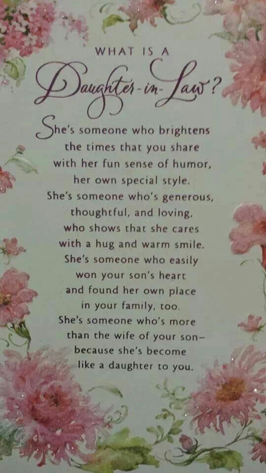Best Birthday Quotes Daughter In Law She Is The Perfect Addition