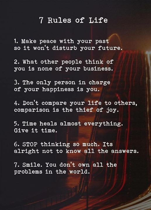 Positive Quotes 60 Rules Of Life Quotes Boxes You Number One Classy 7 Rules Of Life Quote
