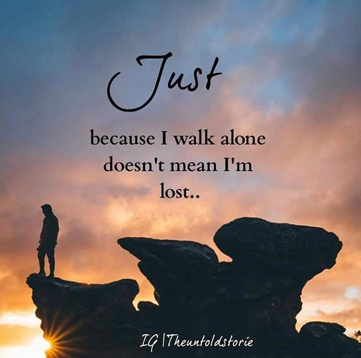 Positive Quotes Just Because I Walk Alone Quotes Boxes You