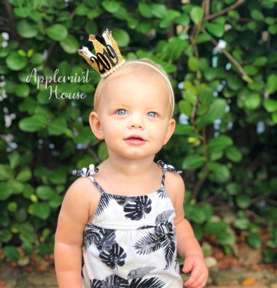 New Year 2019 Baby New Years Eve Party Crown Headband 2019 Newborn