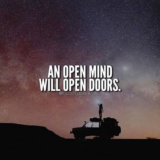 Positive Quotes An Open Mind Will Open Doors Quotes Boxes You